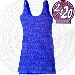 2/$20 Lace Layered Bodycon Lavender Stretchy Dress